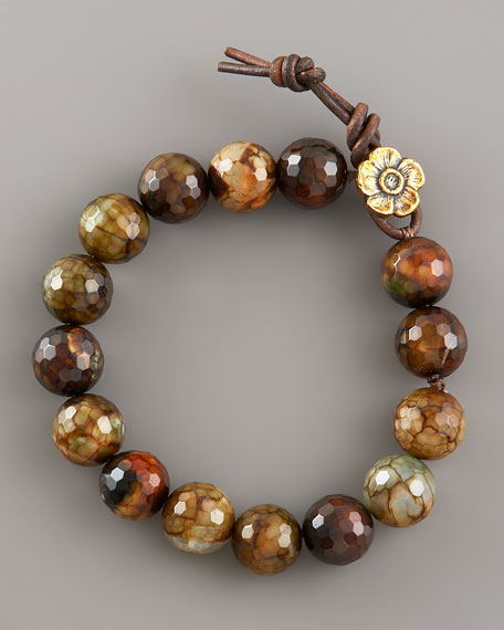 Faceted Fire Agate Bracelet