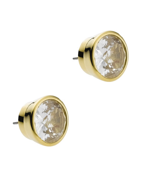 GOLD AND CRYSTAL STUDS