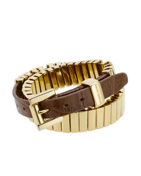 Double-Wrap Belt Bracelet, Golden