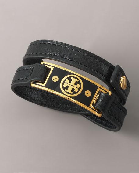 Logo Wrap Bracelet, Black