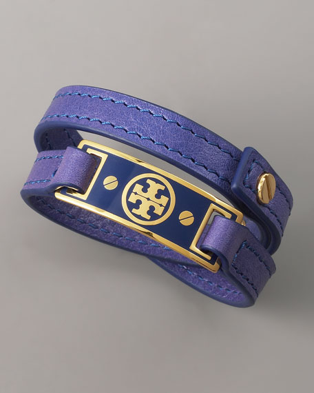 Logo Wrap Bracelet, Purple