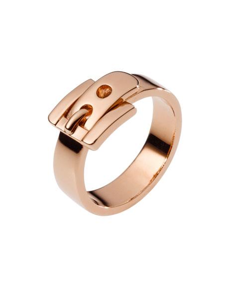 Buckle Ring, Rose Golden
