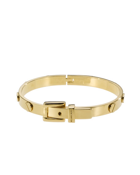 Belt Bangle, Golden