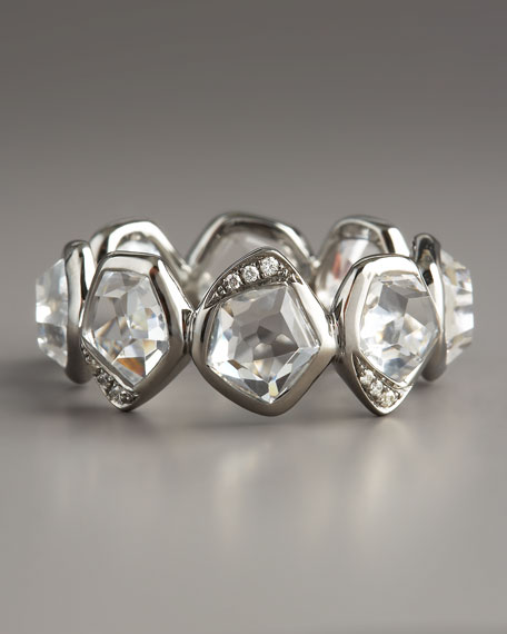 Quartz & Diamond Ring