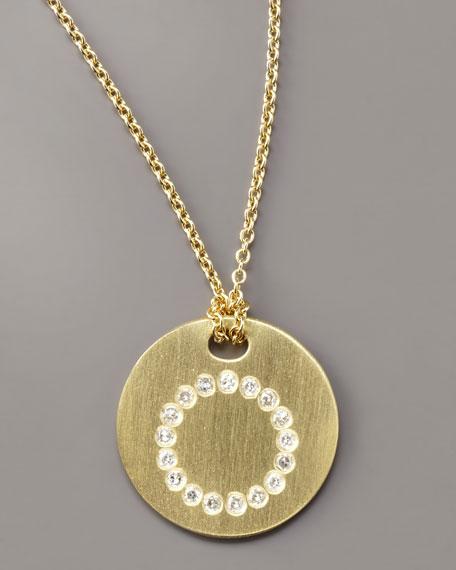 Letter Medallion Necklace, O