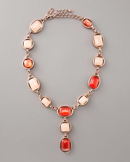 Oval-Bezel Cabochon Necklace