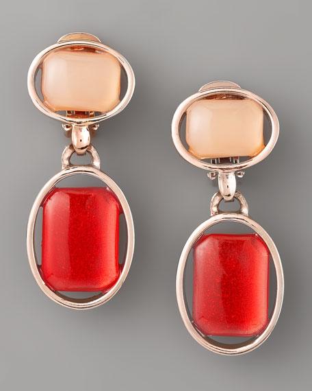 Oval-Bezel Cabochon Earrings