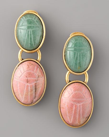 Carved-Stone Earrings