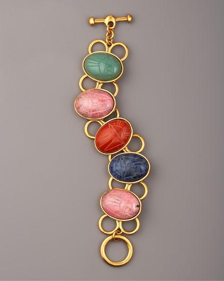 Carved-Stone Link Bracelet