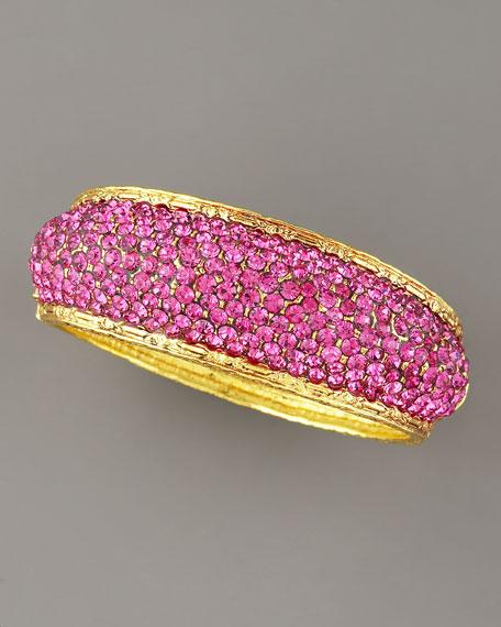 Pave-Crystal Bracelet, Fuchsia