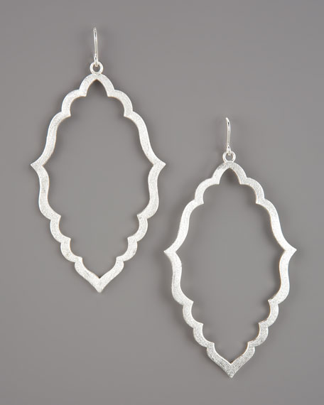 Moroccan Hoop Earrings, Sterling Silver