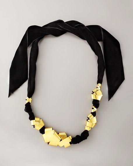 Gold & Velvet Necklace