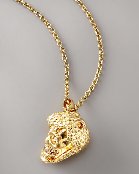 Snake & Skull Pendant Necklace