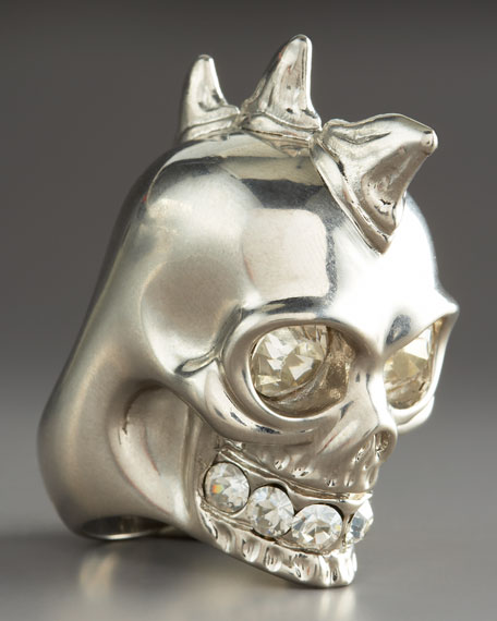 Shark Teeth Skull Ring