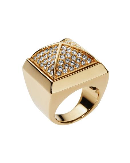 Pave Pyramid Ring