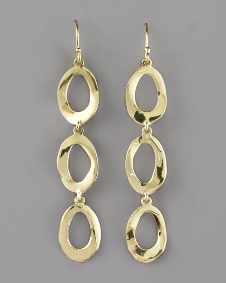 Oval-Link Drop Earrings