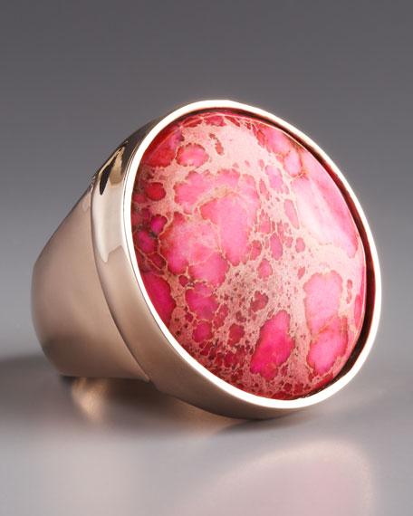 Pink Jasper Ring