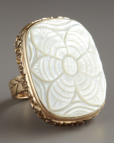 Carved Mother-of-Pearl Ring
