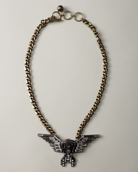 Wing Pendant Necklace, Long