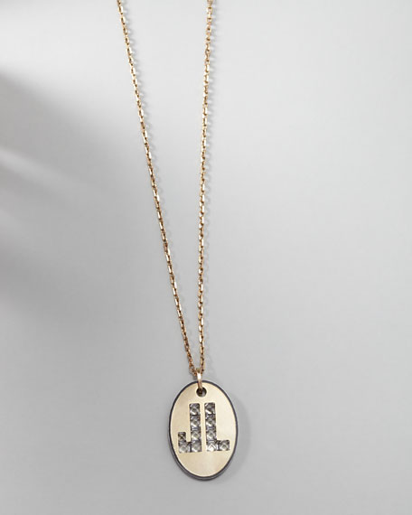 Long Logo-Pendant Necklace