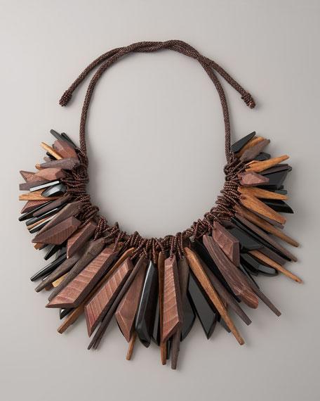 Large Cluster Necklace, Black