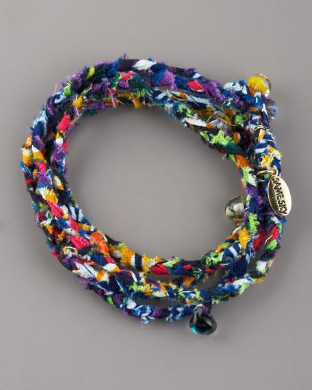 Beaded Woven Wrap Bracelet, Multicolor