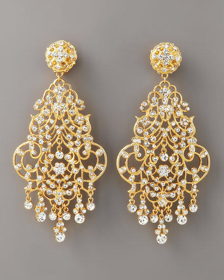 Scrollwork Drop Earrings