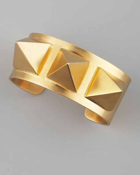 Gold Pyramid Stud Cuff