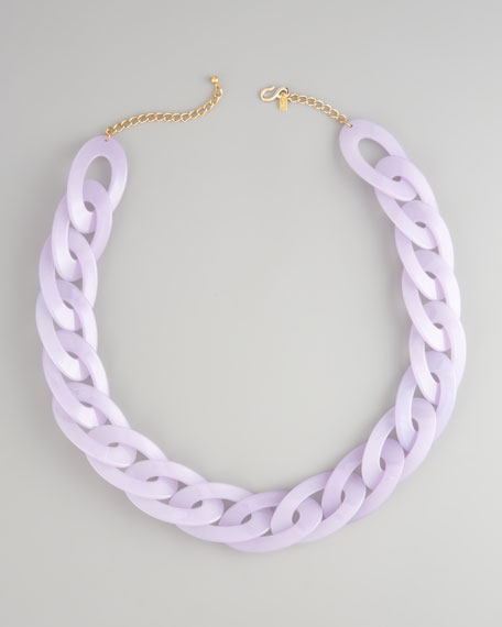 Resin-Link Necklace, Lavender