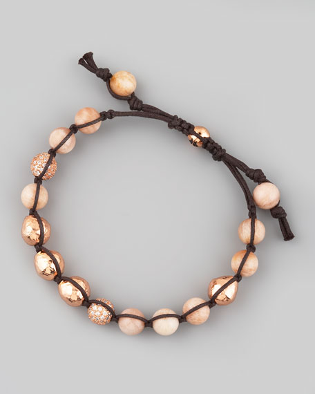 Rose Gold & Agate Bracelet