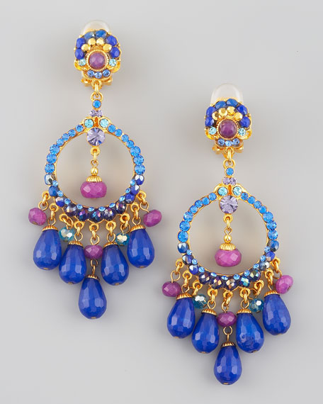 Multicolor Filigree Chandelier Earrings