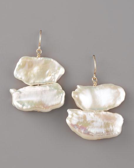 Natural Pearl Drop Earrings