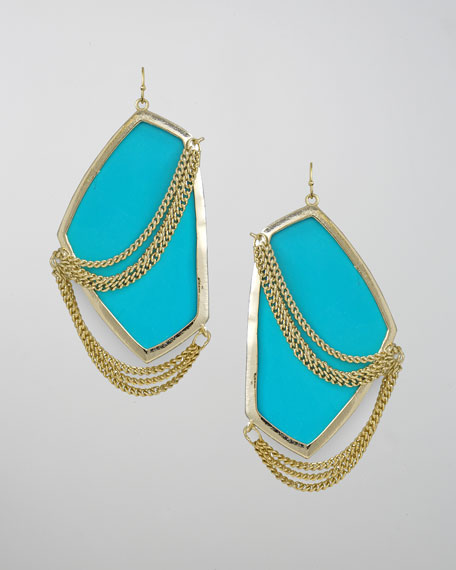 Kavita Earrings, Turquoise