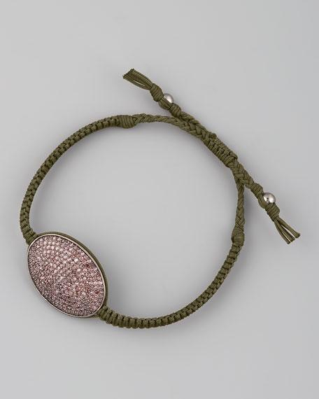 Pave Oval-Ring Bracelet