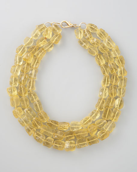 Three-Strand Necklace, Yellow