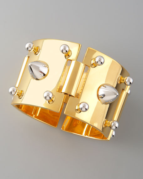 Mixed-Metal Studded Bracelet