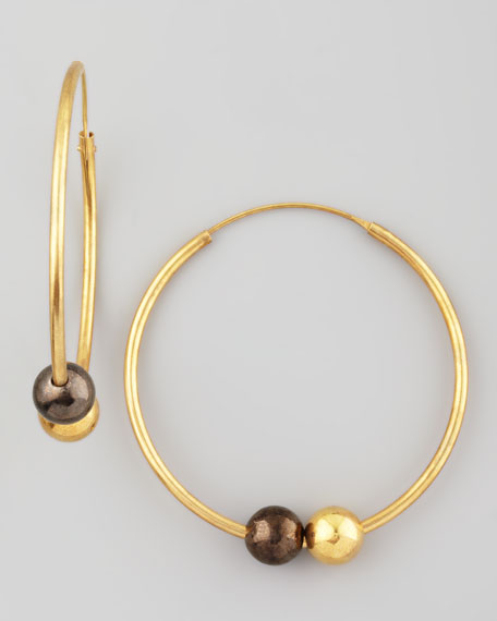 Double-Sphere Hoop Earrings