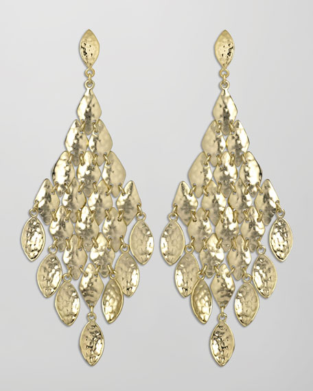 Nera Earrings, Gold