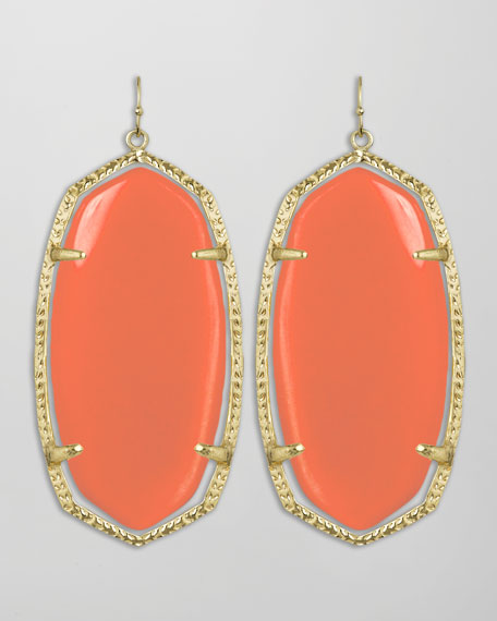 Danielle Earrings, Salmon