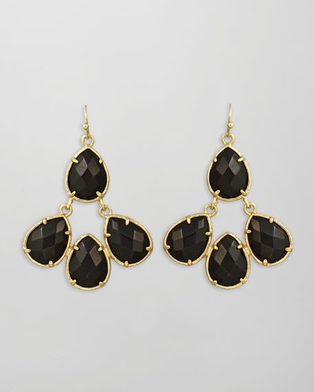 Carlone Earrings, Black Onyx