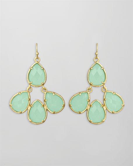 Carlone Earrings, Chalcedony