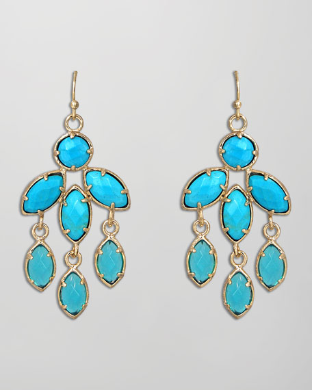Tierney Earrings, Turquoise