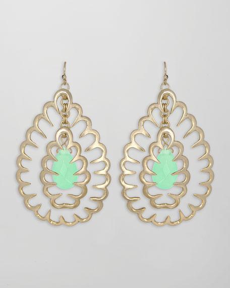 Zola Squiggle Earrings, Chalcedony