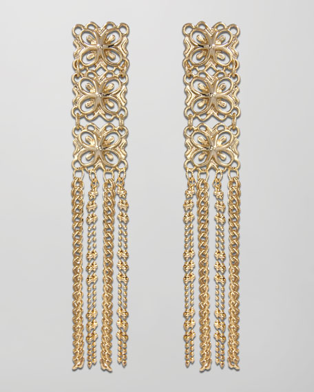 Mila Fringe Earrings, Gold