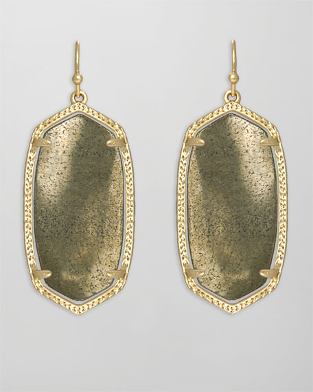 Elle Earrings, Pyrite