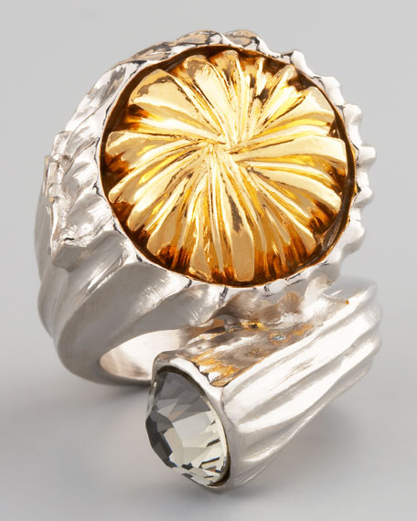 Mixed-Metal Snail Ring