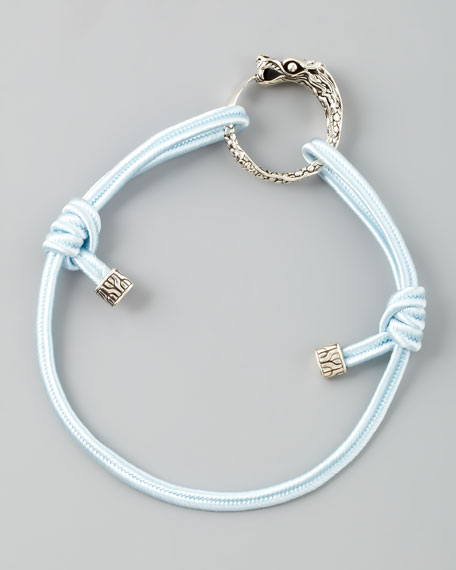 Naga Cord Bracelet, Light Blue