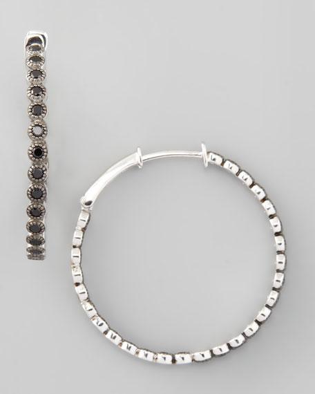 Spinel Hoop Earrings