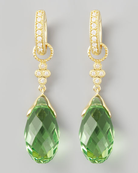 Green Quartz Briolette Charms