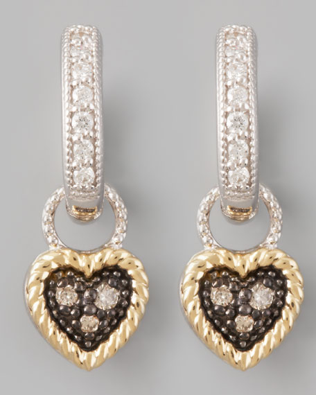 Diamond Heart Earring Charms